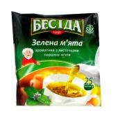 Чай Беседа зеленый с листочками перечной мяты 25 п – ИМ «Обжора»