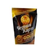 Кофе Черная карта Gold 140г растворимый пакет – ИМ «Обжора»