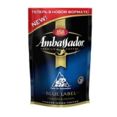 Кофе Амбассадор (Ambassador) Blue Label растворимый  75 г – ИМ «Обжора»