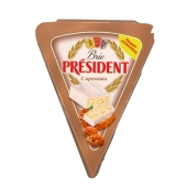 Сыр Бри Президент (President) с орехами 125г – ИМ «Обжора»