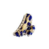 Заколка-краб Ласковая детская синие цветы 58893 – ИМ «Обжора»