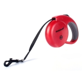 Рулетка Collar control 20кг,5м(светоотраж.,лента,трос) красная – ИМ «Обжора»