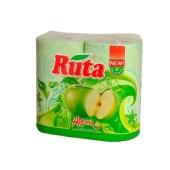 Туалетная бумага Рута  4 шт зеленая – ИМ «Обжора»