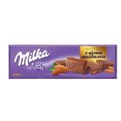 Шоколад Милка (Milka) молочный с цельным миндалём, 185 г – ИМ «Обжора»