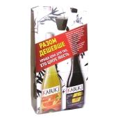Напиток винный Кабуки (Kabuki) слива красный п/сух. + персик/грейпф белый п/сух. 0,75 л+0,75 л – ИМ «Обжора»