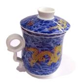 Чашка с заварником  на подставке фарфор 4 вида *1813В – ИМ «Обжора»
