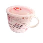 Чашка для бульена с пластиковой крышкой фарфоровая В1367 – ИМ «Обжора»
