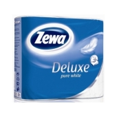 Туалетная бумага Зева (ZEWA) Deluxe White Pure 4 шт. – ИМ «Обжора»