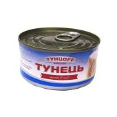 Консервы тунец Tuntsoff целый в/м 185 г – ИМ «Обжора»