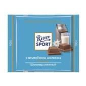Шоколад Риттер спорт (Ritter Sport) молочный 35% 100 г – ИМ «Обжора»