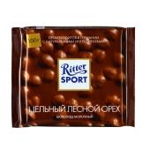 Шоколад Риттер спорт (Ritter Sport) молочный цельный орех 100 г – ИМ «Обжора»
