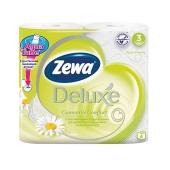 Туалетная бумага Зева (ZEWA) Deluxe White ароматизированная 4 шт. – ИМ «Обжора»