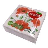Салфетки Рута (Ruta) 40 л Дабл Люкс Цветы – ИМ «Обжора»