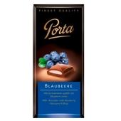 Шоколад Порта (Porta) молочный с черникой 100г – ИМ «Обжора»