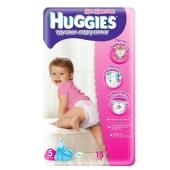 Подгузники Хаггиз (Huggies) Little Walkers Conv 5 Girl (13-17 кг) 15 шт. – ИМ «Обжора»