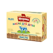 Масло Ферма для детей 73% 200 г – ІМ «Обжора»
