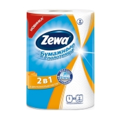 Полотенце кухонное Зева (ZEWA) белое 2 в 1 – ИМ «Обжора»