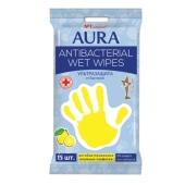 Влажные салфетки Аура (AURA) Baby  Family антибакт. 15 шт. – ИМ «Обжора»