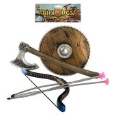 Набор рыцаря 5531 лук,стрелы на присосках 3 шт,щит,топор,кул., 21,5-43-3 см – ИМ «Обжора»
