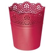 Горшок д/квітів LACE 160 мм круглий малиновий – ІМ «Обжора»