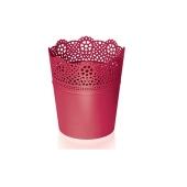 Горшок д/цветов LACE 115 мм круглый малиновый – ИМ «Обжора»