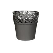 Горщик д/квітів NATURO 175 мм круглий сірий – ІМ «Обжора»
