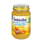 Пюре Бебивита (Bebivita) картошка и морковка с говядиной 190 г – ИМ «Обжора»