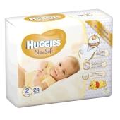 Подгузники Хаггиз (Huggies) elite soft (2) 24шт – ИМ «Обжора»