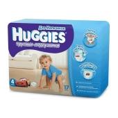 Подгузники Хаггиз (Huggies) Little Walkers Conv 4 Boy  (9-15 кг) 17 шт. – ИМ «Обжора»