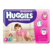Подгузники Хаггиз (Huggies) Little Walkers Conv 4 Girl (9-15 кг) 17шт. – ИМ «Обжора»