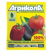 Удобрения Агрикола марки-3 универсальное 50 г 04-007 – ИМ «Обжора»