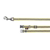 Поводок+ошейник Трикси (Trixie) `Конфетки` желтый с подсвет. XS-S 22-35см/10мм+1, 2м, нейлон, 15373 – ИМ «Обжора»