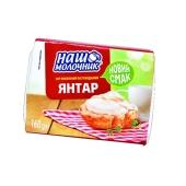 Сыр Наш Молочник Янтарь 60% 160 г – ИМ «Обжора»
