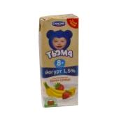 Йогурт Тема земляника-банан 1,5% 207г – ИМ «Обжора»