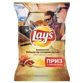 Чипсы Лейс (Lay's) рёбра под сладким соусом 133г – ИМ «Обжора»