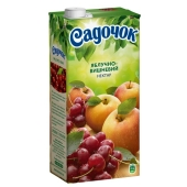 Нектар Садочок яблоко-вишня 1 л – ИМ «Обжора»