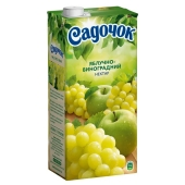 Нектар Садочок виноград-яблоко 2 л – ИМ «Обжора»