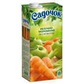 Сок с мякотью Садочок яблоко-морковь 1 л – ИМ «Обжора»