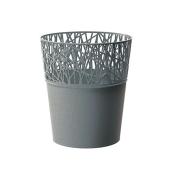 Горшок д/цветов CITY 115 мм круглый серый – ИМ «Обжора»