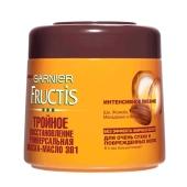 Маска-масло Гарниер (Garnier) Fructis Тройное Востановление для очень сухих волос 3 в 1, 300 мл – ИМ «Обжора»