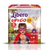 Трусики дет. Либеро (Libero) Up&Go 5 Maxi Plus(10-14 кг.) 22 шт. – ИМ «Обжора»