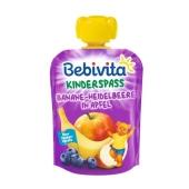 Пюре Бебивита (Bebivita) банан-черника-яблоко 90г – ИМ «Обжора»