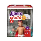 Трусики дет. Либеро (Libero) Up&Go 7 XL Plus(16-26 кг.) 18 шт. – ИМ «Обжора»