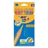 Карандаши Бик (Bic) цветные Тропиколор 12 шт. – ИМ «Обжора»
