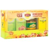 Набор Чай Липтон (Lipton) + мёд в подарок  3*25п – ИМ «Обжора»