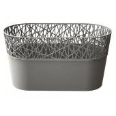 Горшок д/цветов CITY 285 мм овальный серый – ИМ «Обжора»