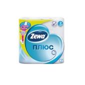 Туалетная бумага Зева (ZEWA) Плюс белая, 4 шт – ИМ «Обжора»