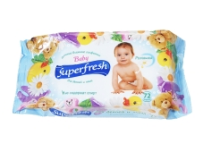 Салфетки влажные Superfresh антибакт. с клап. 72 шт. Новинка – ИМ «Обжора»