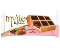 Бисквит Invite waffle cake клубника – ИМ «Обжора»