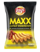 Чипсы Лейс Макс 62г кур. крылья барбекю – ИМ «Обжора»